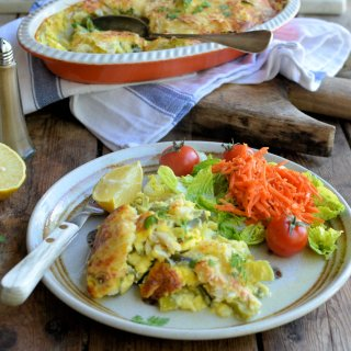 Award Winning Scottish Fish: Smoked Plaice, Leek & Cheese Gratin with Chervil & Lemon