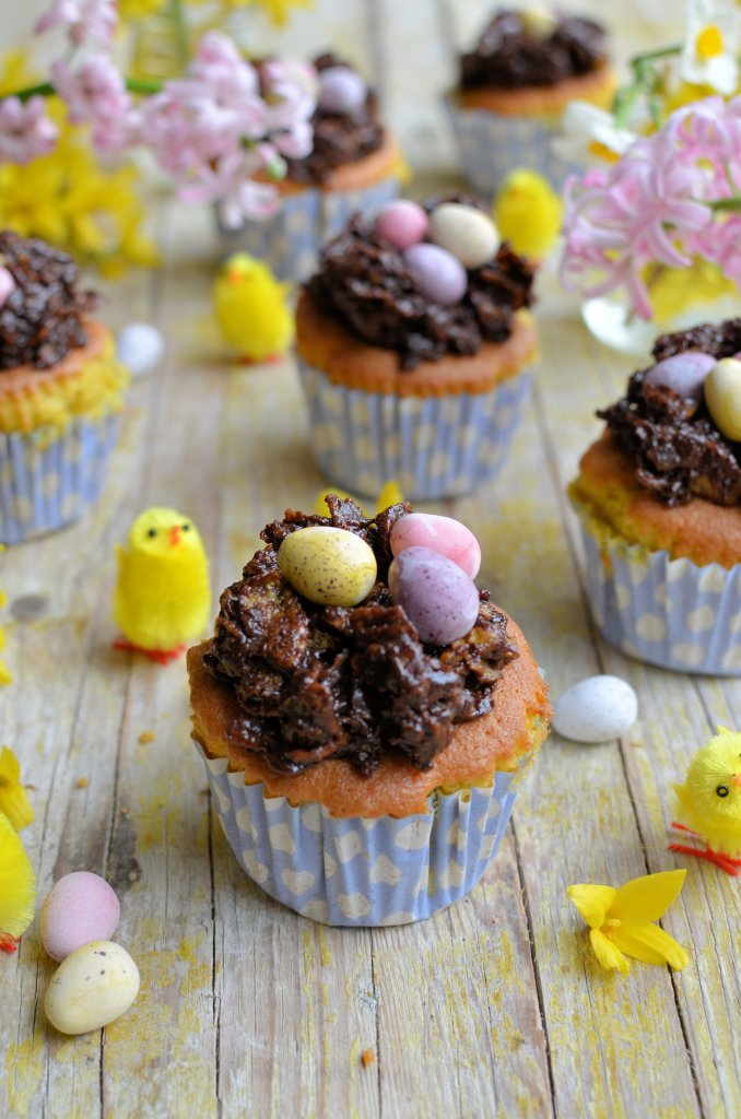 Easter Nest Cup Cakes