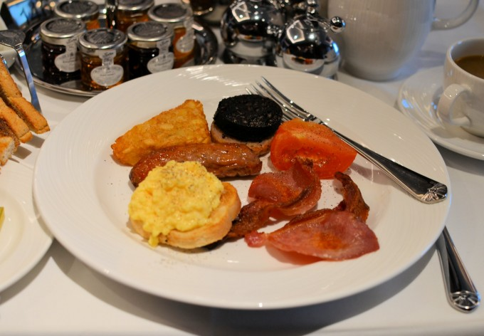 full English breakfasts (with toast and marmalade),