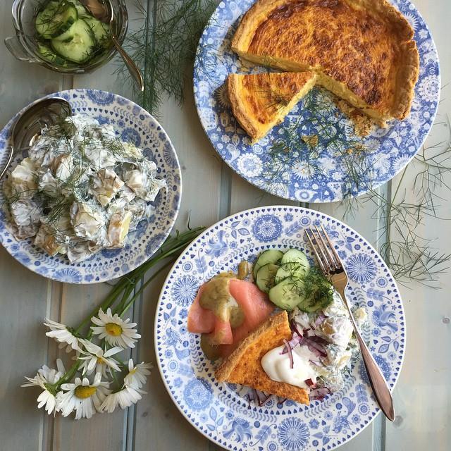 Swedish Potato Salad and Smoked Salmon