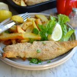Baked Hake and Chips
