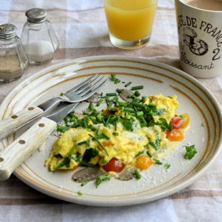 Bed & Breakfast Cheese, Tomato and Garden Herbs Omelette