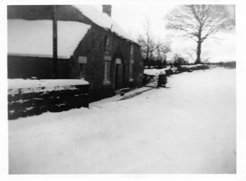 Burnside Cottage in the snow, Newlands, Near Ebchester, Co Durham
