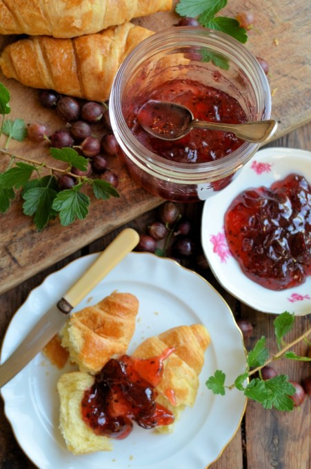 Pink Gooseberry and Elderflower Jam