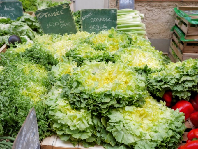 at the large Tuesday morning Provençal market in Vaison-la-Romaine