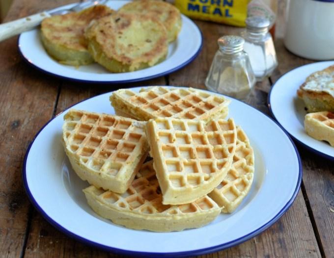 Buttermilk and Cornbread Waffles