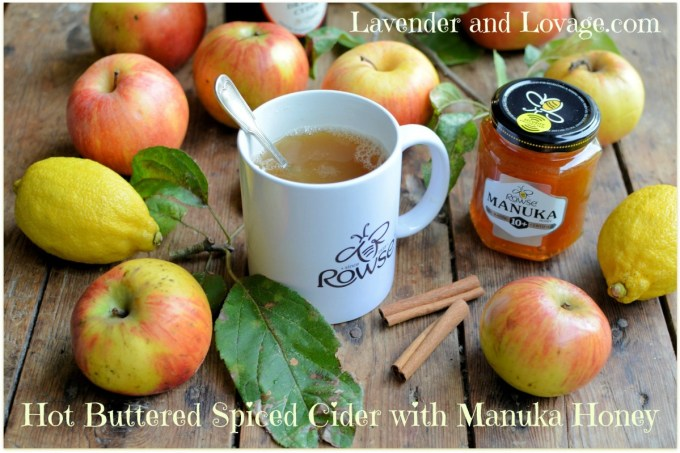 Hot Buttered Spiced Cider with Manuka Honey