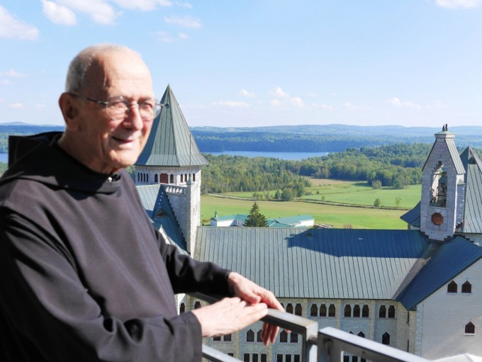 Brother Gregoire at Abbaye de St-Benoît-du-Lac