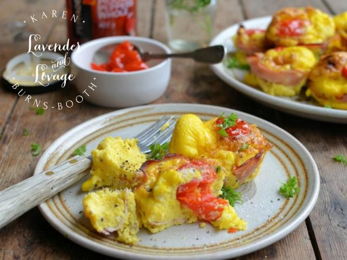 Egg, Ham and Pepper Breakfast Cups