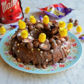 Creme Egg & Malteser Chocolate Tiffin Bundt Cake