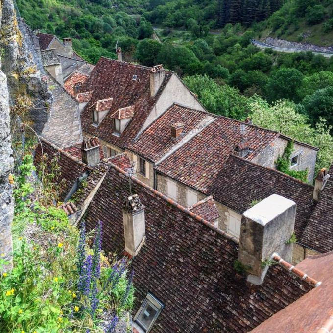 The rooftops of Rocamadour