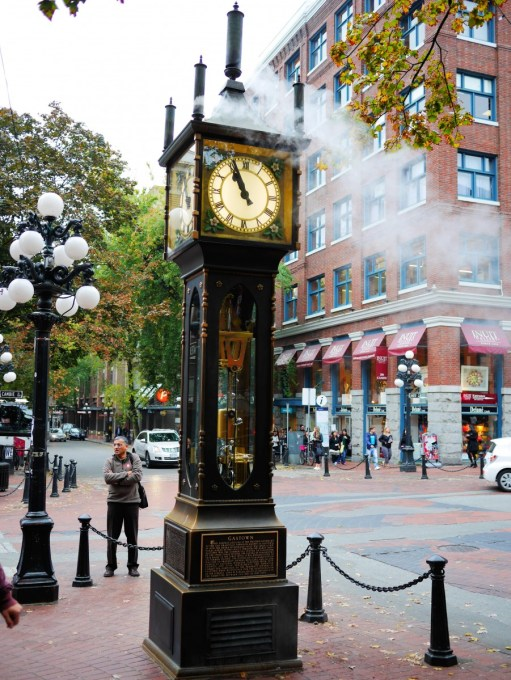 The Steam Clock in Gastown, Vancouver