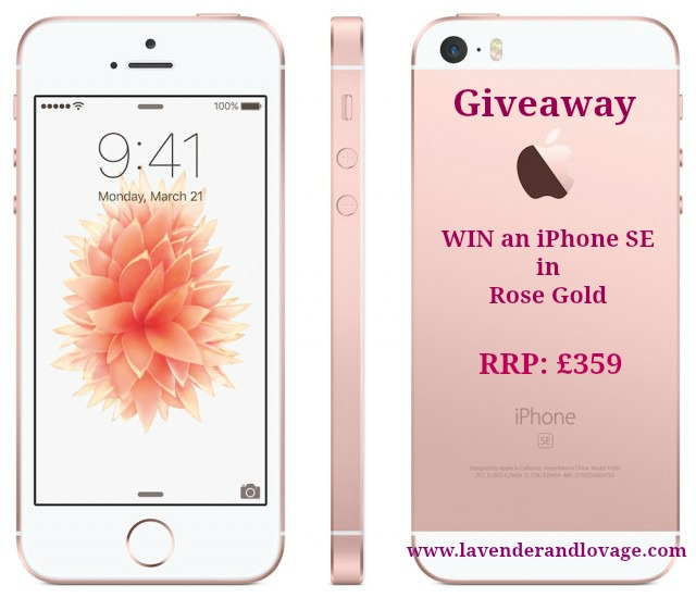 Giveaway: Win an iPhone SE in Rose Gold - Lavender and Lovage