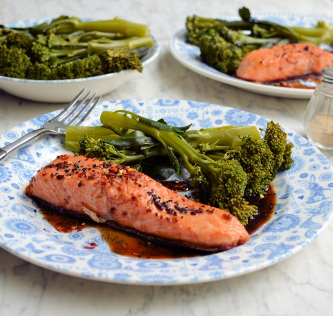 Easy Balsamic, Honey & Chilli Salmon