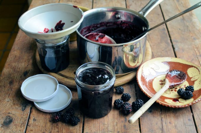 making jam doesn't have to be hard, and you can make a batch of jam with as little as 450g (1lb) of blackberries. There are a few basic rules to be adhered to before you start – you need to sterilise your jars and make sure you have lids that fit and will make a seal, but other than that, all that is needed is a large pan, a wooden spoon, a funnel and a ladle, and you can jam in the kitchen to your heart's content!