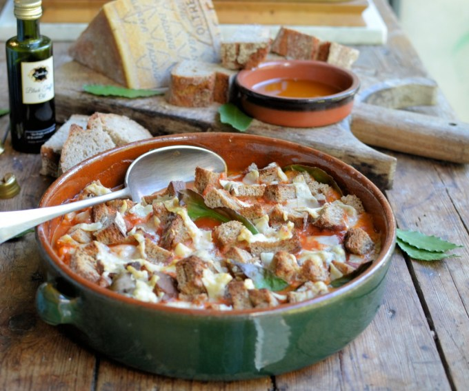 Rustic Tuscan Bean Casserole with Grana Padano Cheese Croutons