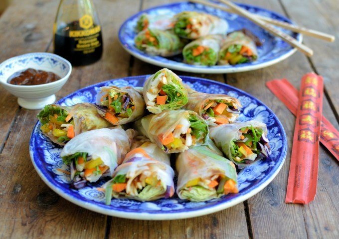 Vietnamese Rainbow Vegetable Summer Rolls