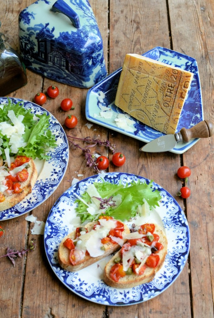 Roast Tomato & Grana Padano Bruschetta with Capers