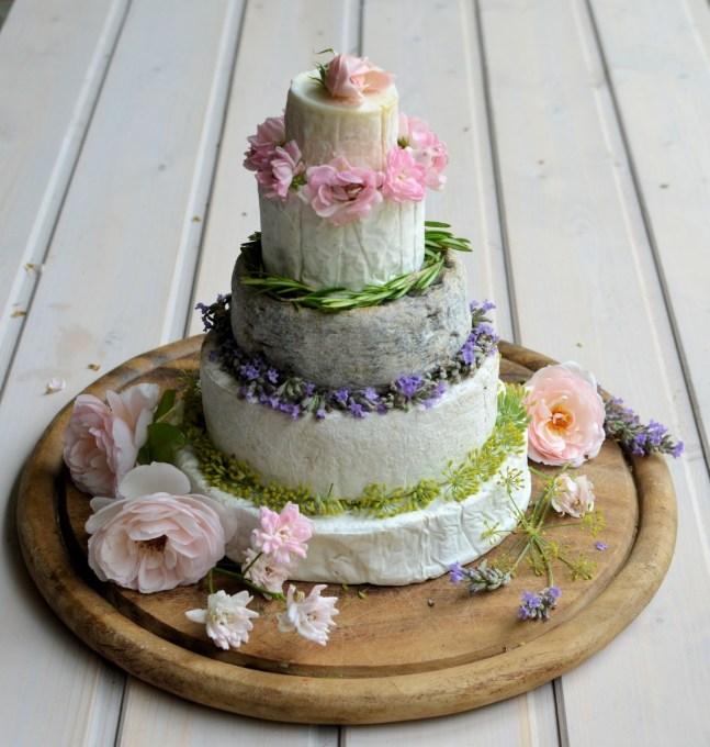 Cheese cake tower flowers