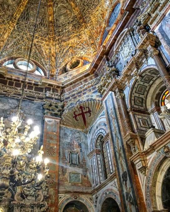 Inside the Catedral de Santiago de Compostele