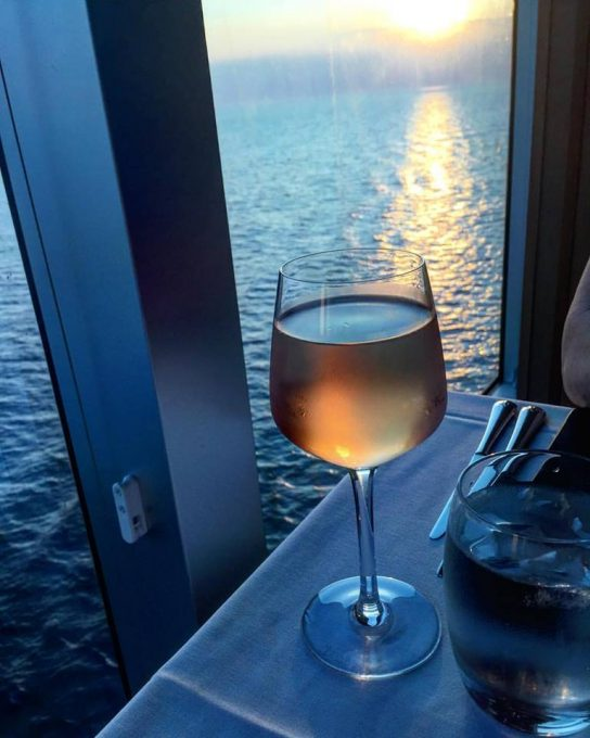 Sunset wine in the Beach House