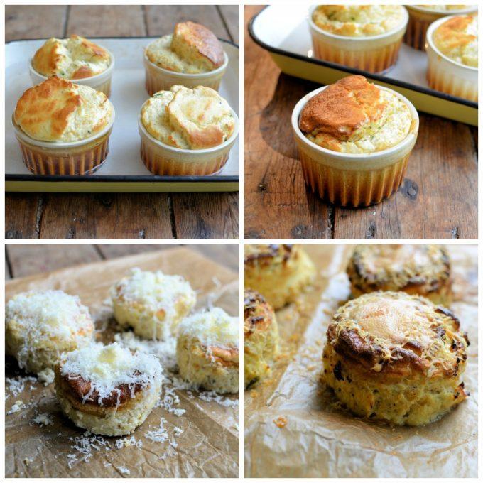 Baked Breakfast: Twice Baked Cheese & Chive Breakfast Soufflés