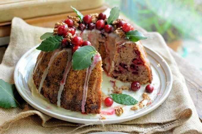 Spiced Cranberry & Walnut Bundt Cake