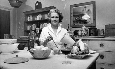 Elizabeth David in her kitchen in Halsey St, Chelsea. Photograph: Elizabeth David Estate