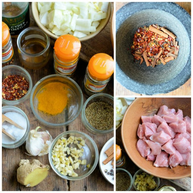 Pork Balchao Ingredients and Spices
