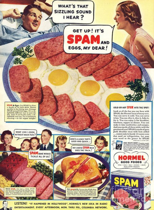 SPAM® Chopped Pork & Ham Vintage Poster