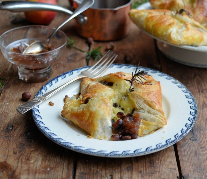 Camembert and Hazelnut Parcels