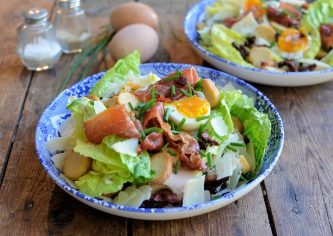 Bacon and Egg Caesar Salad