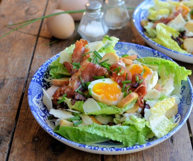 Updating a Classic! Bacon and Egg Caesar Salad