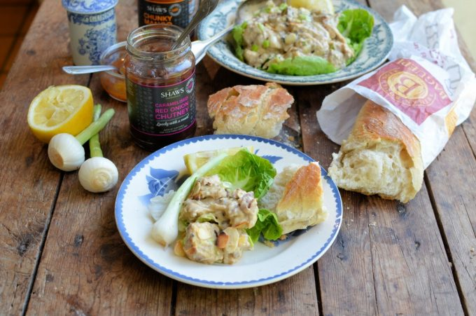 Coronation Chicken served