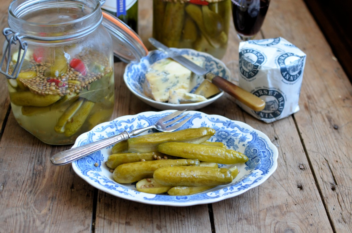 Quick Sweet Pickled Cucumbers - Lavender and Lovage