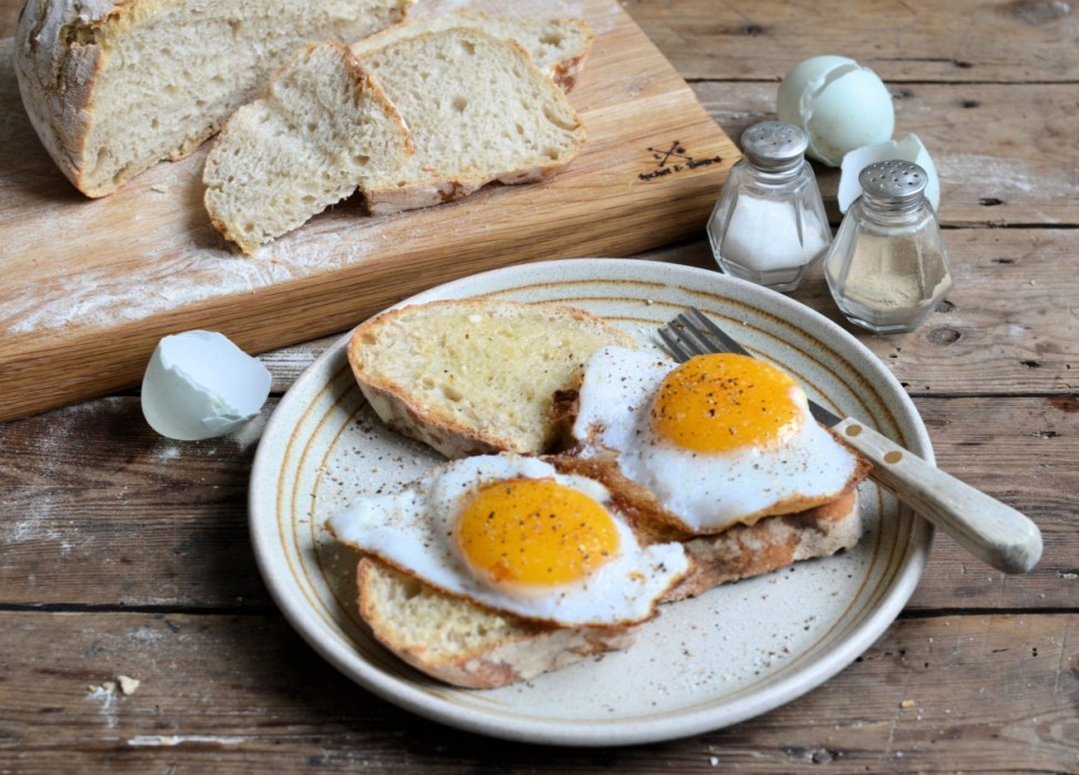 duck eggs on toast