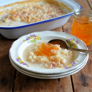 Baked Rice Pudding with Marmalade