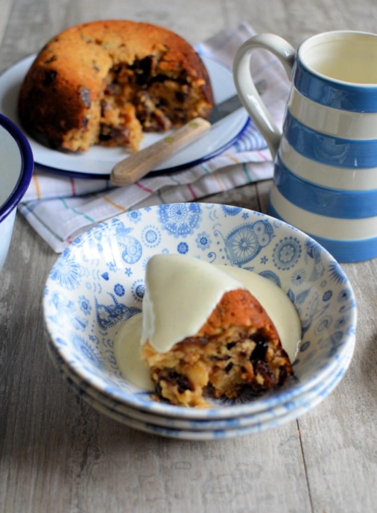 Cake Crumb and Mincemeat Pudding