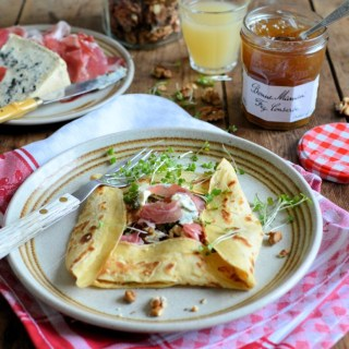 Blue Cheese, Ham and Fig Conserve Crêpes (