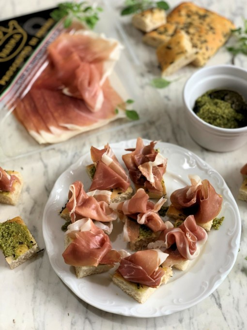 Pesto and Parma Ham Bites