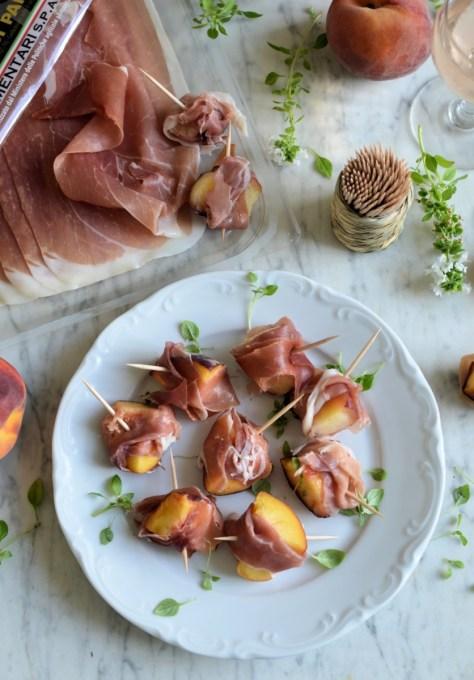 Ham and Peach Skewers