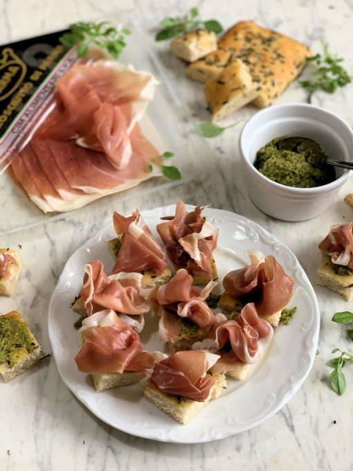 Parma Ham and Pesto Bites