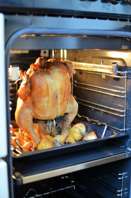 """Scarborough Fair """"Beer Can"""" Style Roast Chicken"""