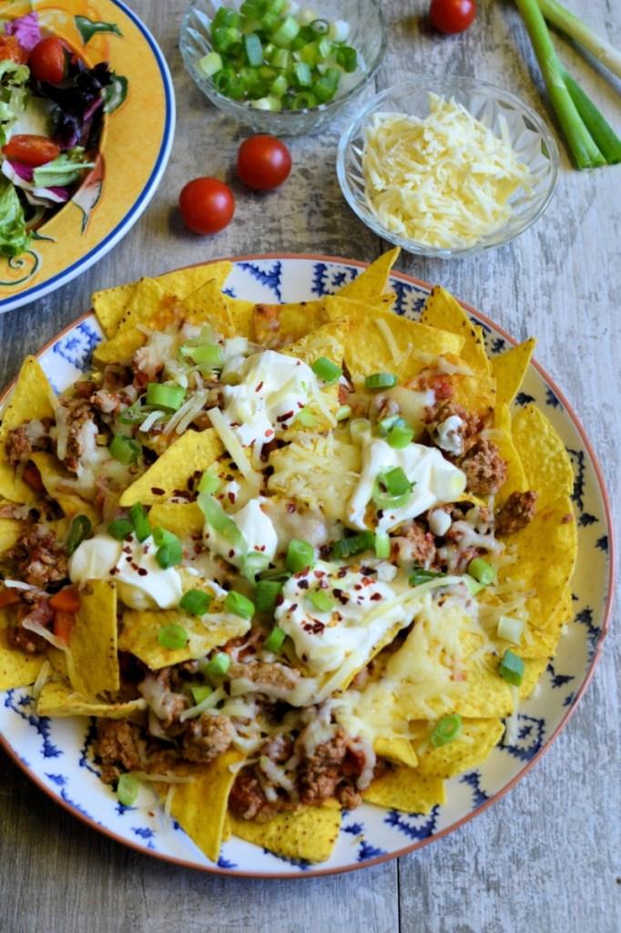Healthy Turkey Ragu Nachos