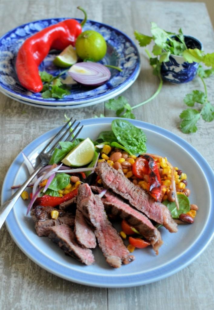 Steak and Mexican Bean Salad