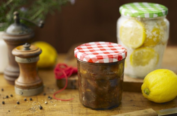 From spiced chutneys, such as our Rhubarb & Aubergine Chutney to fiery pickles or tangy 'citrons confits' – they all look much more stylish in the larder when packed into a selection of Bonne Maman conserve and compote jars.