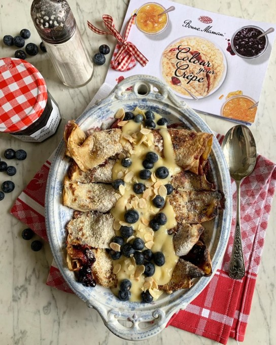 Crispy Apple and Wild Blueberry Crêpes