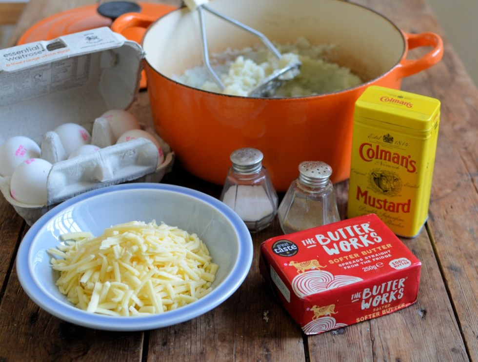 Cheese and Potato Pie ingredients