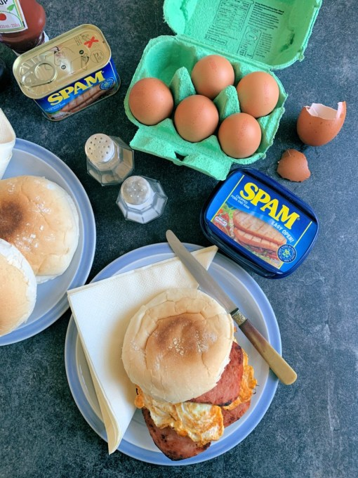 SPAM® and Eggs Breakfast Sandwich