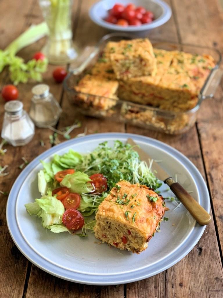Cheese & Lentil Slice